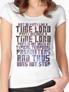 Aint No Party Like a Time Lord Party II Women's Fitted Scoop T-Shirt