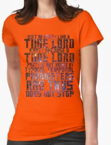 Aint No Party Like a Time Lord Party II Womens Fitted T-Shirt