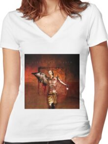 No Title 113 Women's Fitted V-Neck T-Shirt