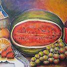 Fruits and wine. by Marilia Martin
