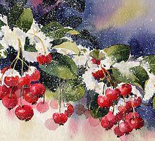 Berries in the Snow  by artbyrachel