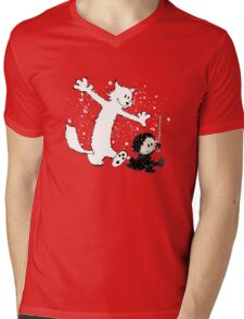 Ghost and Snow Mens V-Neck T-Shirt