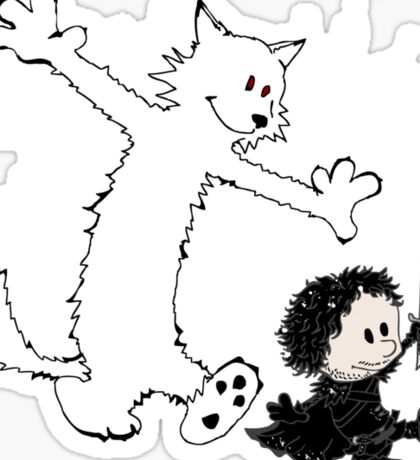 Ghost and Snow Sticker