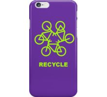 Recycle Message And Bicycle Emblem iPhone Case/Skin