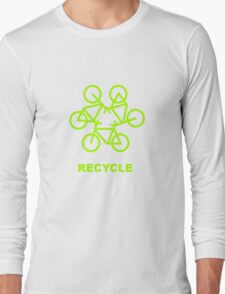 Recycle Message And Bicycle Emblem T-Shirt