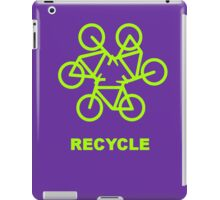Recycle Message And Bicycle Emblem iPad Case/Skin