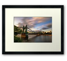 Hammersmith Bridge Sunset Framed Print