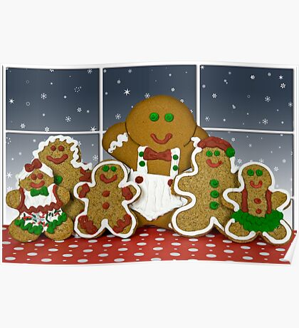 Gingerbread Family Poster