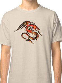 Fire Dragon, Tattoo Style, Fantasy Classic T-Shirt