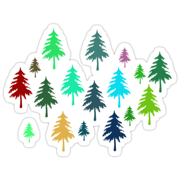 Christmas Pine Trees T-Shirt by simpsonvisuals