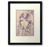 eating clouds Framed Print