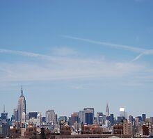 New York Skyline from Brooklyn Bridge by Emma-Rose Fitzpatrick