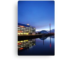 BBC Scotland, view over the Clyde , Glasgow  Canvas Print