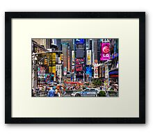 Busy Times Square Framed Print