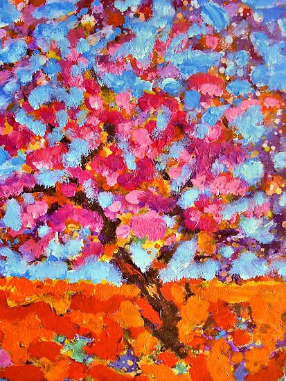 The Pink Cherry Blossom Tree by Richard  Tuvey