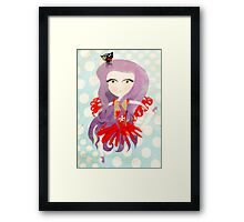 Mélancolie hungry cat doll dancing Barcelona Framed Print