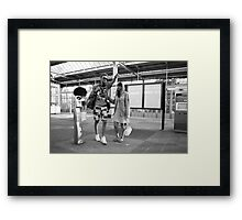 Let's go! ~ Not yet!  Framed Print
