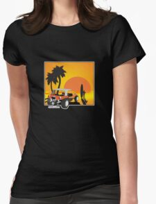 Dune Buggy Sunset Womens Fitted T-Shirt