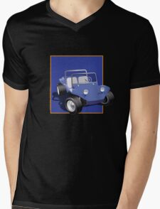 Blue Dune Buggy Blue Box Mens V-Neck T-Shirt