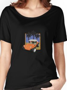 Dune Buggy Manx Orange w Palmes Women's Relaxed Fit T-Shirt