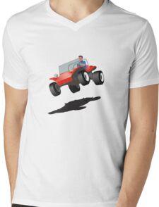 Dune Buggy Manx Jump Mens V-Neck T-Shirt
