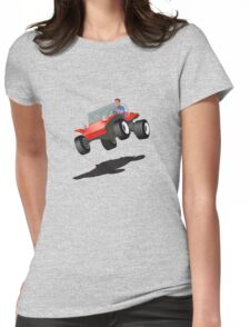 Dune Buggy Manx Jump Womens Fitted T-Shirt