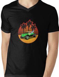 Dune Buggy Manxter Sunset Mens V-Neck T-Shirt