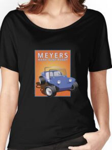 Dune Buggy Blue Manx Orange Box Women's Relaxed Fit T-Shirt