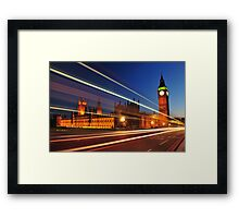 Bus trail Framed Print