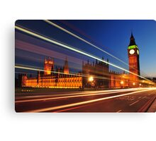 Bus trail Canvas Print