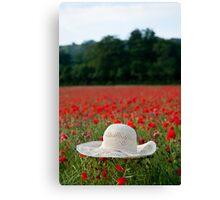 Poppy Hat.... Canvas Print