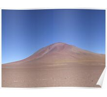 Blue sky brown hill Poster