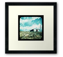 The Old Tin Shed Framed Print