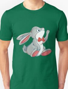 Cute rabbit with bow Unisex T-Shirt