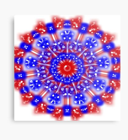 Fabulous Red White and Blue Metal Print