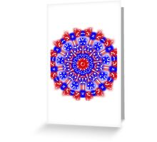 Fabulous Red White and Blue Greeting Card