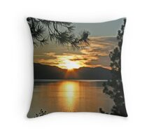 """Tahoe Sunset"" Throw Pillow"