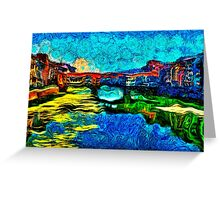 Arno River Florence Italy Fine Art Print Greeting Card