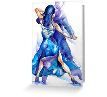 blue tango Greeting Card