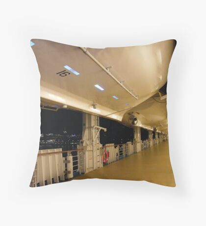 """The deck of the """"NCL Pride of America"""".... Throw Pillow"""