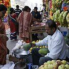 Fruit sale in Kathmandu, Nepal by Yves Roumazeilles