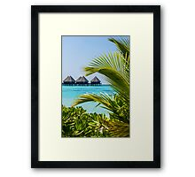 Postcard from Tahiti, French Polynesia Framed Print