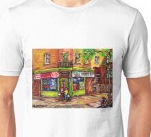 BEST MONTREAL PAINTINGS DEPANNEUR ST HENRI KIT KAT Unisex T-Shirt