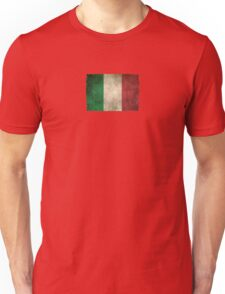 Old and Worn Distressed Vintage Flag of Italy Unisex T-Shirt