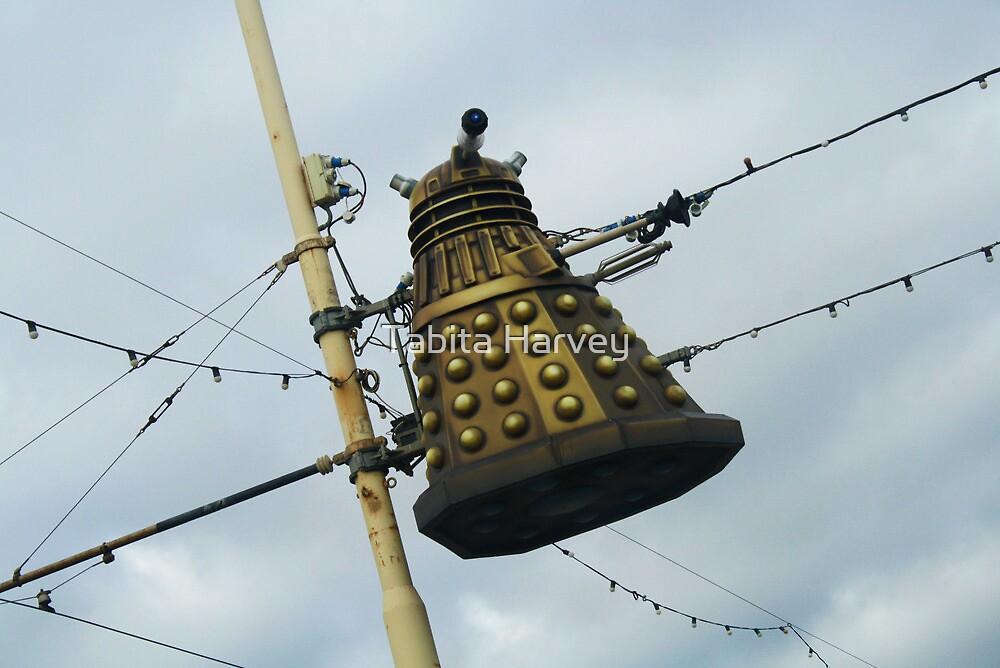 Dalek in a lamp post by Tabita Harvey