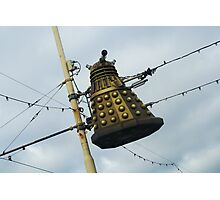 Dalek in a lamp post Photographic Print