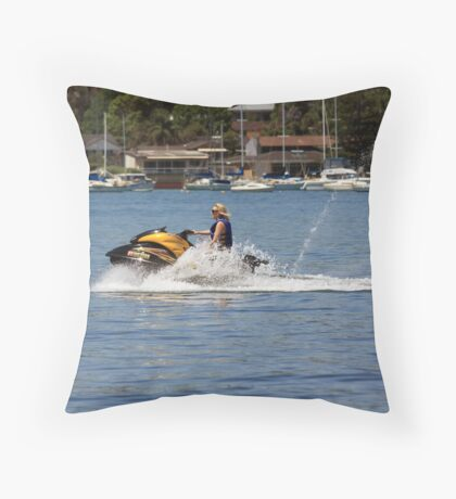 Skipping Over The Water Throw Pillow
