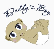Daddy's Boy Bald and Blue Eyes Kids Clothes