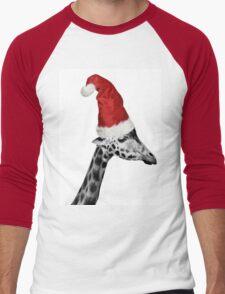 The Elegance of the Christmas Giraffe Men's Baseball ¾ T-Shirt