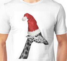The Elegance of the Christmas Giraffe Unisex T-Shirt